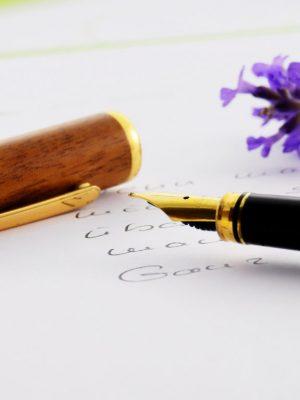 Canva - Brass Black Brown Fountain Pen